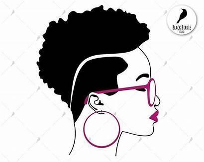 Svg Woman Clipart Glasses Silhouette Cricut Shades
