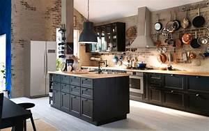 Cuisine Style Industriel Ikea : cuisine avec ilot contre un mur hotelducentre wimereux ~ Melissatoandfro.com Idées de Décoration