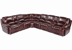 Shop for a cindy crawford home van buren 8 pc leather for 8 pc sectional sofa