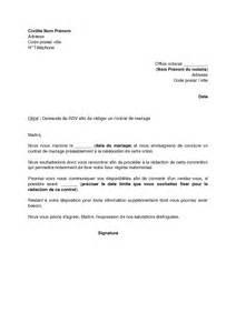 notaire contrat de mariage modele lettre pour mariage civil