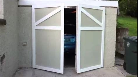 swinging garage door youtube