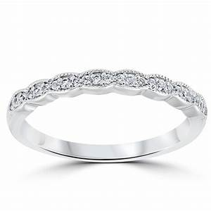 1 5 cttw diamond stackable womens wedding ring 14k white gold for Stackable wedding rings