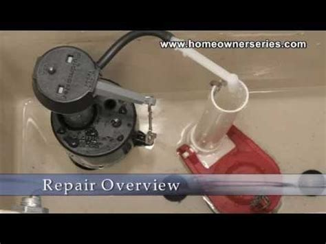 how to fix a toilet flush valve replacement part 1 of 2
