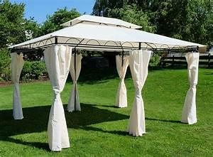 Pavillon 4x3 Wasserdicht : eleganter garten pavillon 3x4 meter dach 100 wasserdicht uv30 12m mit 6 vorh ngen ~ Watch28wear.com Haus und Dekorationen