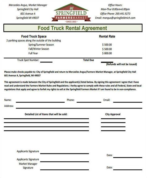 lease agreement templates