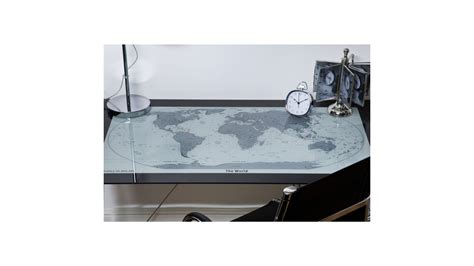 bureau du monde achetez votre bureau en verre et chrome carte du monde