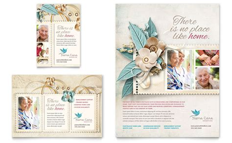 Elder Care Nursing Home Print Template Pack From Hospice Home Care Flyer Ad Template Design
