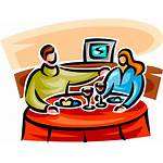 Clipart Restaurant Dining Couple Eat Meal Clip