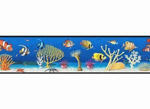 Selbstklebende Bordüre Fürs Bad : bord re fische meereswelt unterwasserwelt bad fliesen tapeten borte ebay ~ Watch28wear.com Haus und Dekorationen