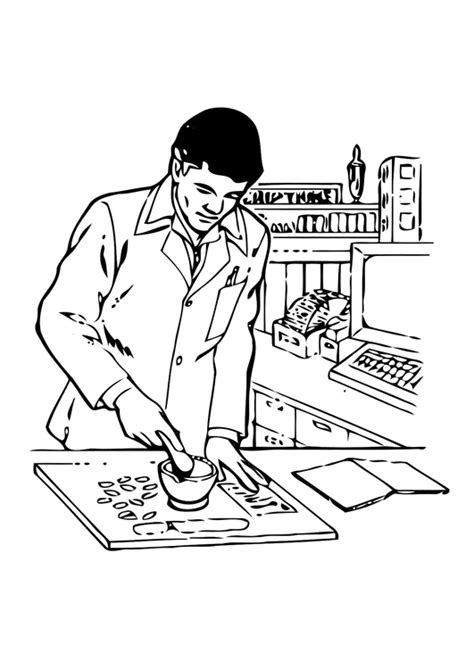 coloring page pharmacist  printable coloring pages