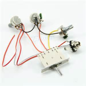 New Guitar Wiring Harness Pickup 1v2t 5 Way Switch 500k