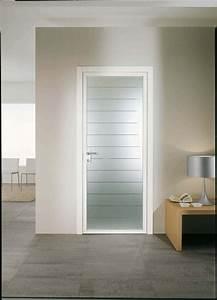 porte de garage et porte interieur vitree aluminium With porte d entrée alu avec stickers design salle de bain