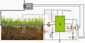 Simple Automatic Plant Watering Circuit For Monitoring Soil Moisture