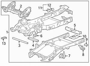 2002 Chevrolet Silverado 2500 Frame Crossmember  Front