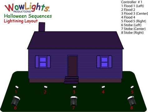 Halloween Strobe Light With Sound by Wowlights Com Lightning Light O Rama Sequence