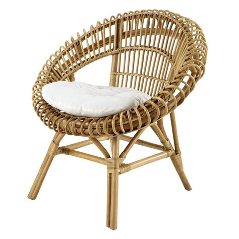 chaise copacabana rattan armchair smoothie maisons du monde