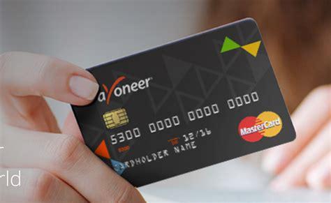Amerikāņu Mastercard Kredītkarte Payoneer Tavā Maciņā ...