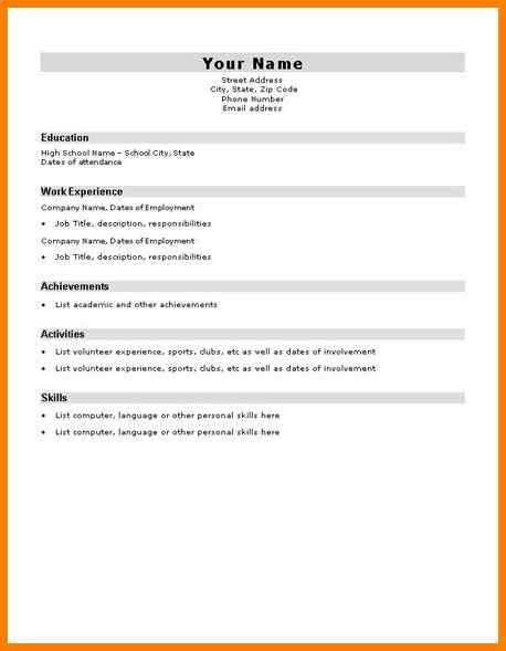 Easy Cv Template by 10 Easy Cv Template For Students Defense