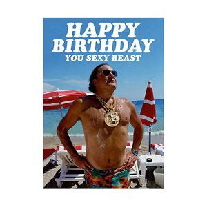 You Sexy Beast Meme - happy birthday you sexy beast greeting card gift blank retro humour him body ebay