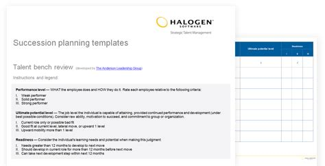 succession planning template succession planning templates toolkit