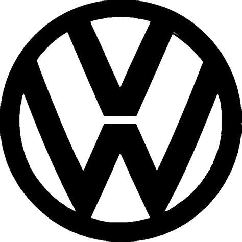 volkswagen logo black and white vw logo