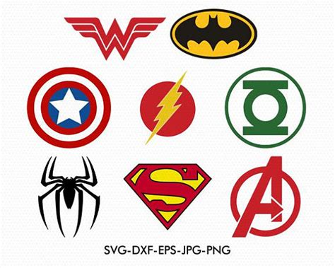 Super Heroes Logos Svg Captain America Svg Superman Svg