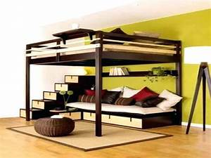 loft beds with couch underneath twin over full futon bunk With chambre design avec matelas bultex 180x200 pas cher