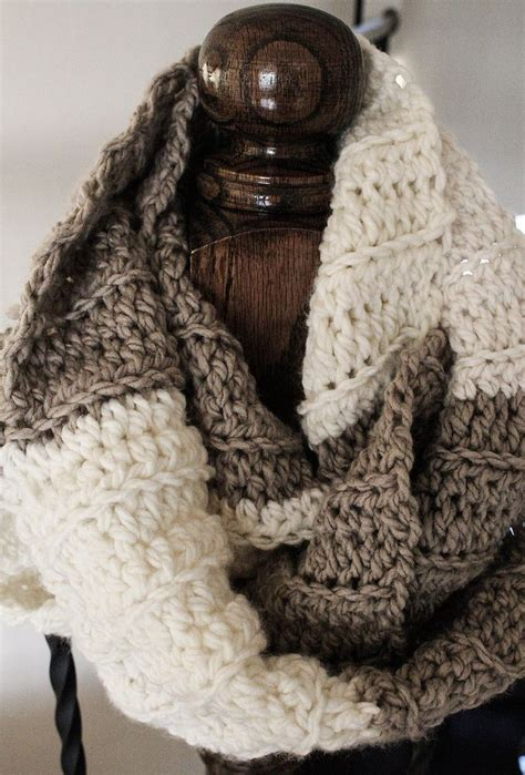 super chunk ribbed infinity scarf  pattern emmys