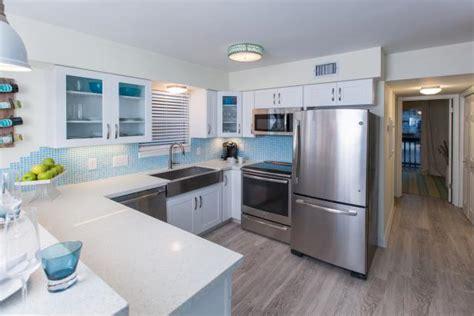 modern white kitchen renovation  beach flip beach