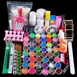 Biutee acrylic nail art set kit gel