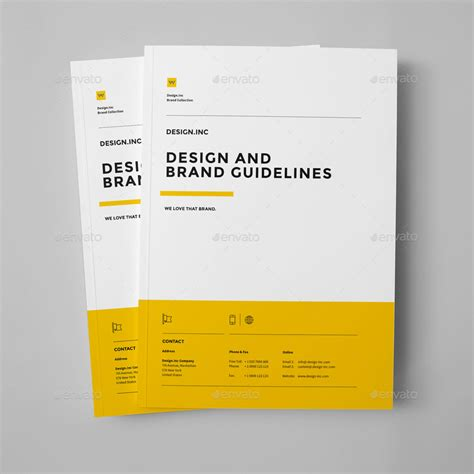brand guide template brand manual by egotype graphicriver