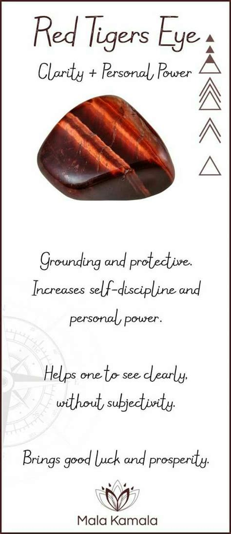 Red Tiger Eye Crystals Stones Crystal
