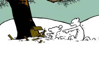 Calvin and Hobbes Snow