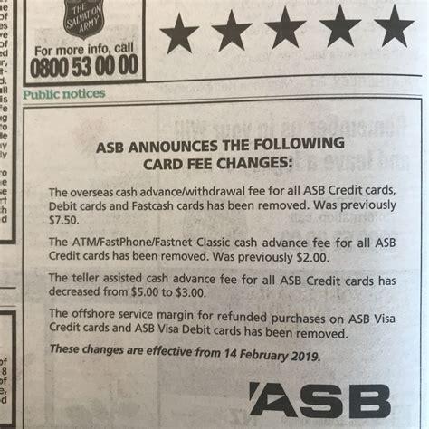 fee  overseas atm withdrawals  asb choicecheapies