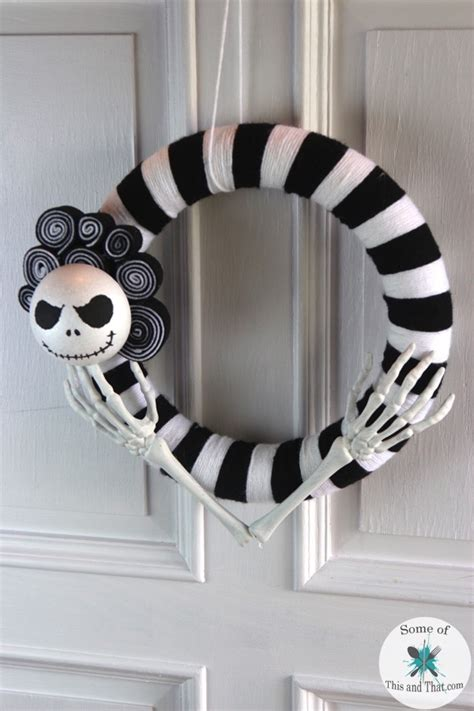 Nightmare Before Decorations Diy by Diy Nightmare Before Wreath Some Of This And That