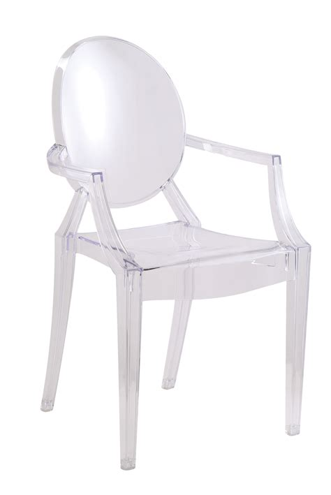 clear louis style acrylic arm chair clear ebay