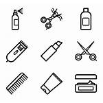 Salon Hair Icon Icons Svg Hairdressing Vector