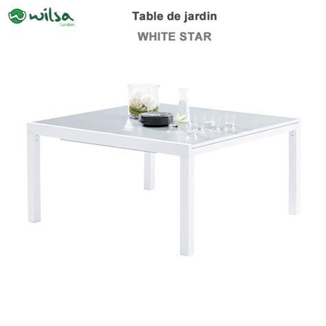 table de jardin whitestar carr 233 8 12 places603090 wilsa garden