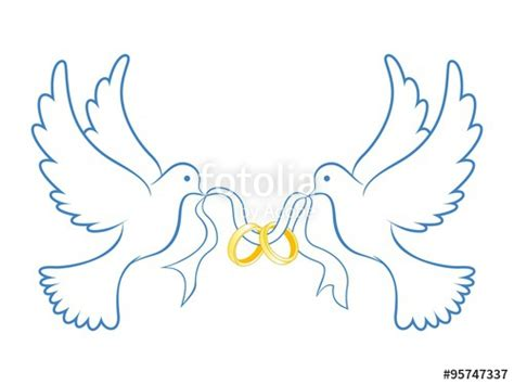 quot wedding dove with ring blue color quot stock image and