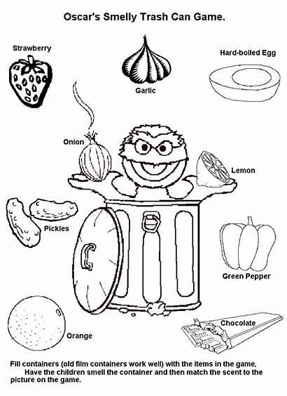 Senses Coloring Pages Clipart Five Pepper Dr