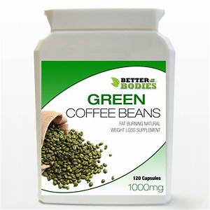 1000mg Pure Green Coffee Bean Extract Capsules Bottle Diet Weight Loss Slimming