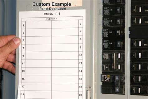 electrical circuit breaker panel label template