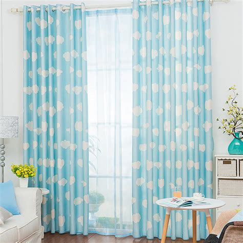 blue and white panel curtains give you causal