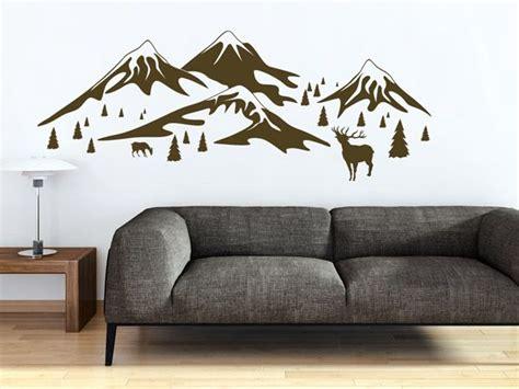 Kinderzimmer Deko Berge by Sch 246 Ne Alpen Deko Mit Wandtattoos Hirsche Berge Und