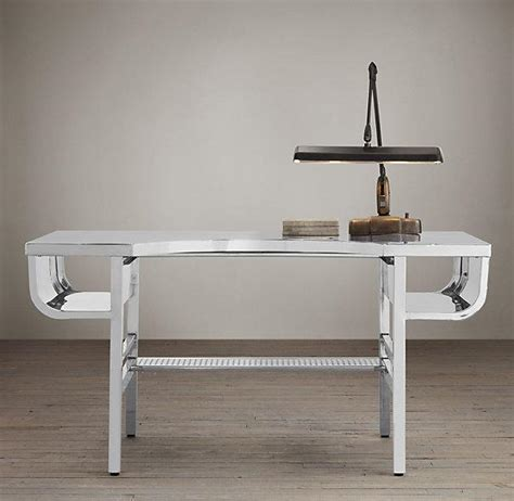 polished chrome desk accessories french factory metal desk polished chrome i restoration