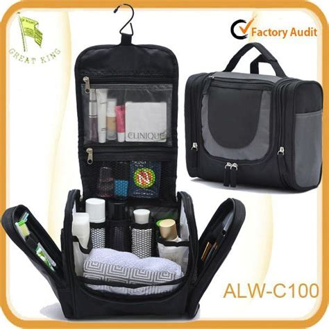 zipper black hanging toiletry travel bag organizer
