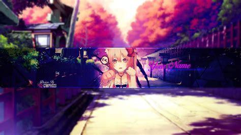 Anime Channel Banner Template Speed Neko Anime Banner Template 26