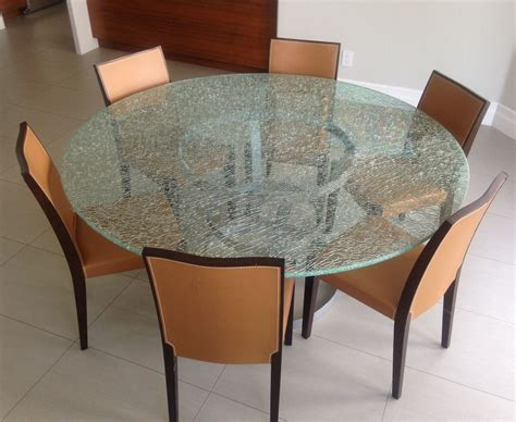 Crackled Glass Dining Room Table Dining Room Design