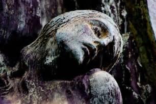 Creepy Cemetery Angel Statues