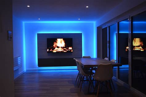 Led Lights For Room Ideas by Tv Room Lit By Rgbw Leds Media Panel Project Instyle Led